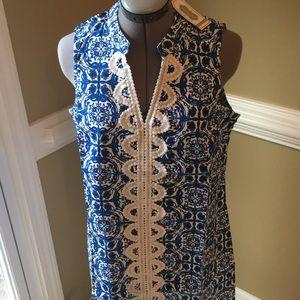 Mud pie Mia embroidered dress, size M